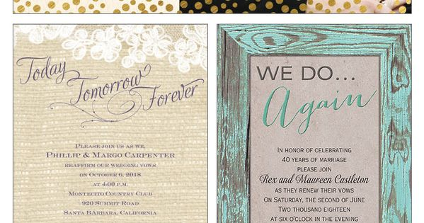 quick guide to vow renewal etiquette Vow renewals, Timeline and ...