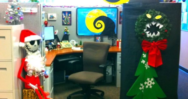 My Nightmare Before Christmas Decorate Cubical Contest