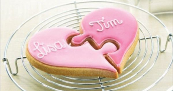 Heart Puzzle Cookie Cutter Set of 2 http://www.fancyflours ...