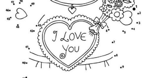 Valentine teddy dot to dot Valentines Pinterest