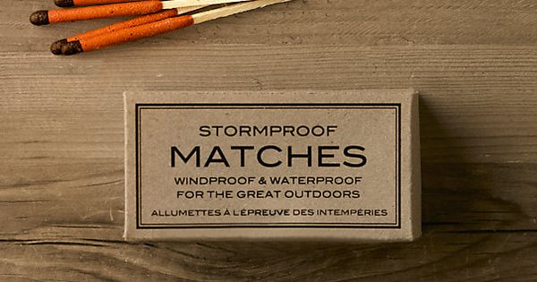storm proof matchs| Restoration Hardware