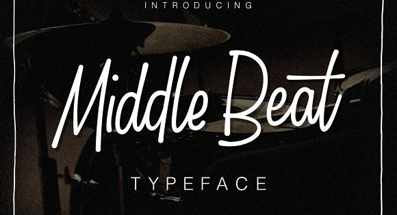 Middle Beat inspired by sign painting and hand drawn font