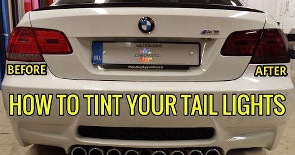 How To Wrap Headlight Tail Light Tint Film Using Chromatic S L