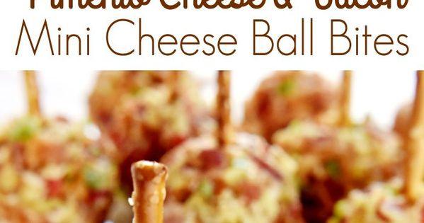 Pimento Cheese & Bacon Mini Cheese Ball Bites | Recipe | Cheese Ball ...