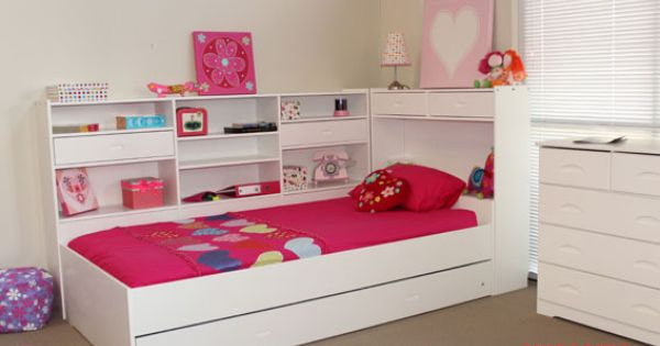 Beds 4 Kids King Single Ballina Girls Trundle Bed White