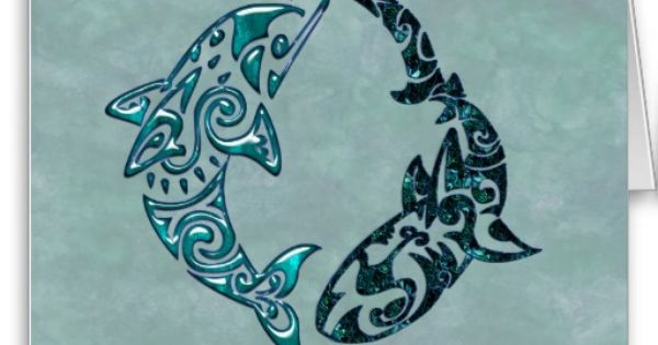 Tribal dolphin and shark. This would make a sweet tattoo!. also, it