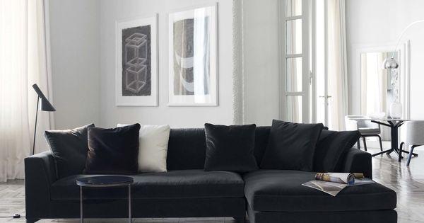 Meridiani i lewis up modular sofa i peck low table i lalit for Sofa modular tela