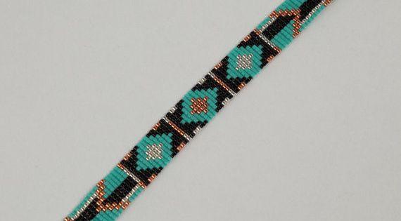 Tribal arrows bead loom bracelet artisanal jewelry for Custom jewelry albuquerque new mexico
