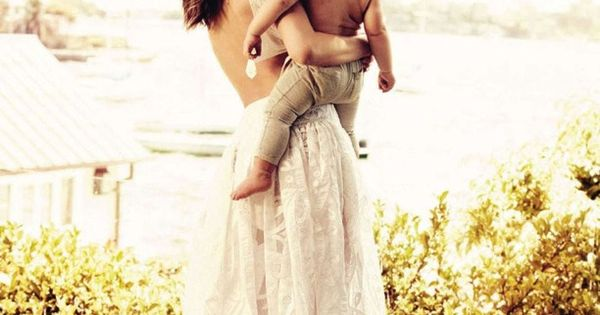 Miranda Kerr & son Flynn wearing Purebaby in British Vogue this month..