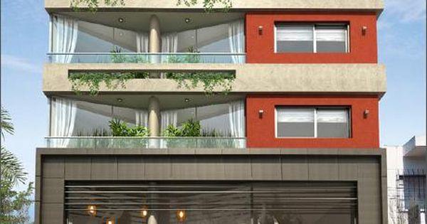 Departamentos peque os arquitectura pinterest for Fachadas para departamentos pequenos