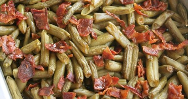 Arkansas green beans, Can green beans and Bacon cups on Pinterest