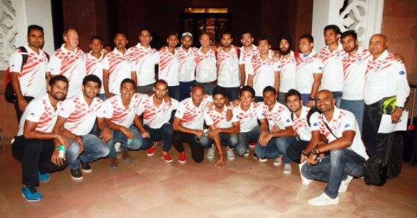 Indian Hockey Team For Rabobank Hockey World Cup 2014 Just Before Departing For The Hague Hockey World Cup World Cup 2014 World Cup