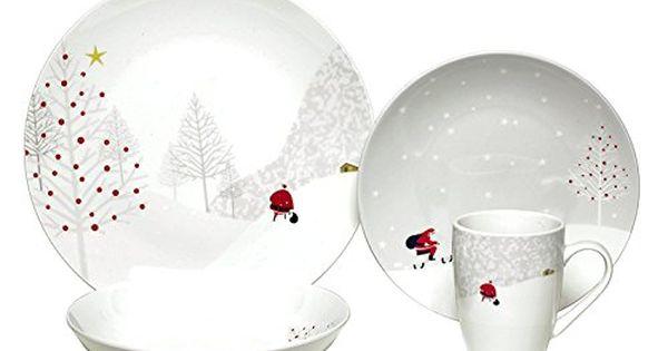 Melange Coupe 16 Piece Porcelain Dinnerware Set Santa Co Https Www Dp B Christmas Dinnerware Christmas Dinnerware Sets Christmas Dinner Plates