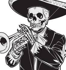 Image Result For Day Of The Dead Tattoo El Mariachi Designs Black And White Day Of The Dead Tattoo Sleeve Day Of The Dead Artwork Mariachi