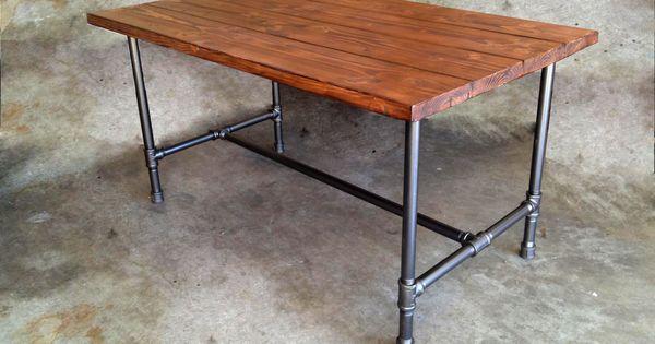 pipe table id es meubles pinterest cendre tuyau en. Black Bedroom Furniture Sets. Home Design Ideas