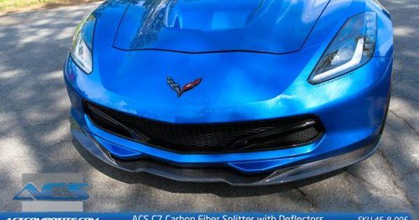 2014 2019 C7 Corvette Acs Front Splitter With Deflectors Carbon Fiber Corvette Stingray Corvette Chevrolet Corvette Stingray