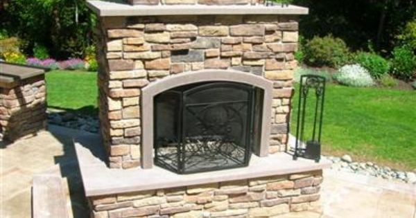 Stone Mantel Outdoor Fireplaces Absolute Concreteworks