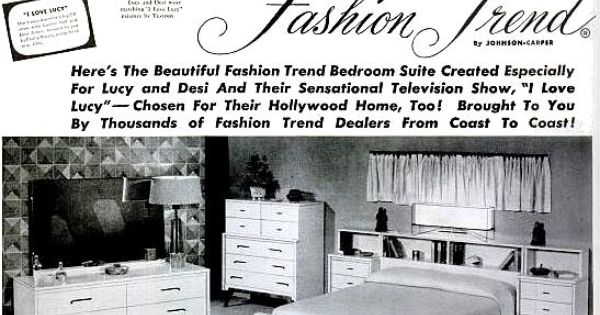 Fashion Trend I Love Lucy Bedroom Suite 1953 Lucille