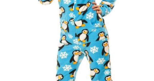 Penguin footed Pyjamas Dame footed Pyjamas-7693