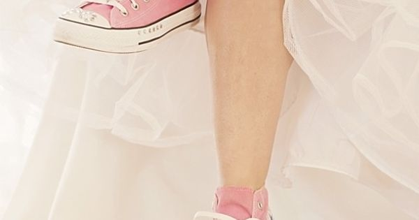 Pink Sneakers On A Bride!or color of bridesmaids dresses