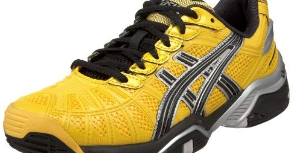 104 95 115 00 Asics Men S Gel Resolution 3 Tennis Shoe Blazing Yellow Black Silver 8 M Us The Asics Gel Resolution 3 Tennis Shoes Shoe Technology Asics Men