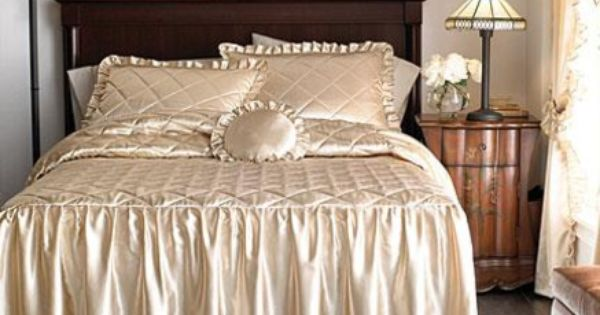 Bedspreads On Whole Home Md Hilary Satin Bedspread And Sham Set Sears Dekor Pinterest