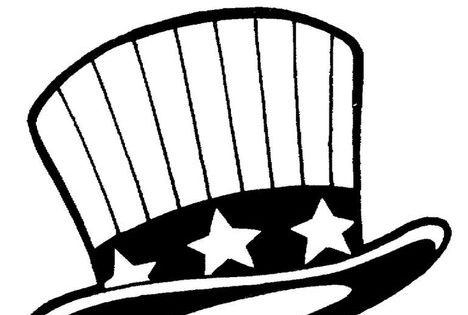 Uncle Sams Hat Coloring Page Twisty Noodle Memorial Day Fourth
