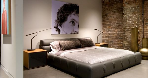 Best Accessories Cool Bedroom Wall Design Exposed Brick Wall 400 x 300