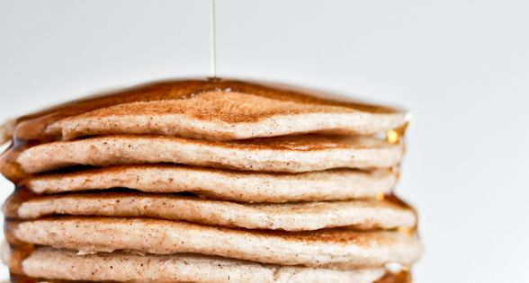 Here is a special way to make pancakes for houseguests. Greek yogurt