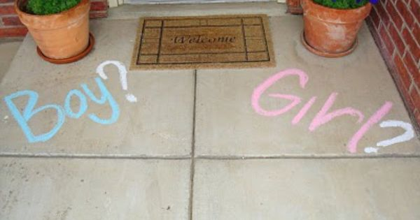 Gender Reveal Party (Have the Dr write gender of baby on a