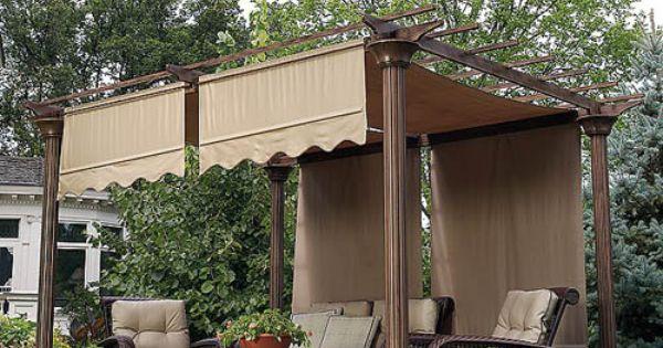 Sears garden oasis deluxe pergola i replacement canopy dream home pinterest gardens shade - Gazebo pergola designs dream spot ...