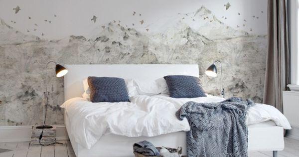 Un Papier Peint Noir Et Blanc Pour Un Mur L Gant Papier Peint Paysage Paysage De Montagne Et