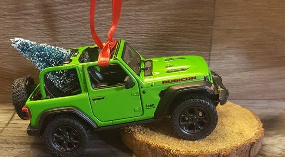 Jeep Wrangler Jl Green Ornament With Christmas Tree Wrangler Jl