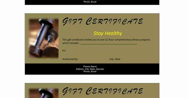 Fitness Gift Certificate Sky Pinterest – Fitness Gift Certificate Template