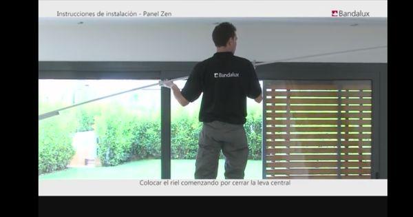 Como instalar paneles japoneses instalar bandalux - Como colocar un panel japones ...