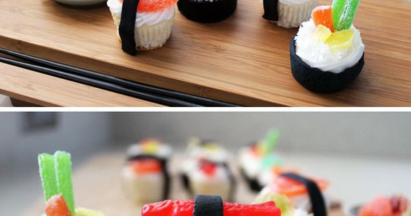 Sushi Cupcakes! (recipe and instructions) so me.