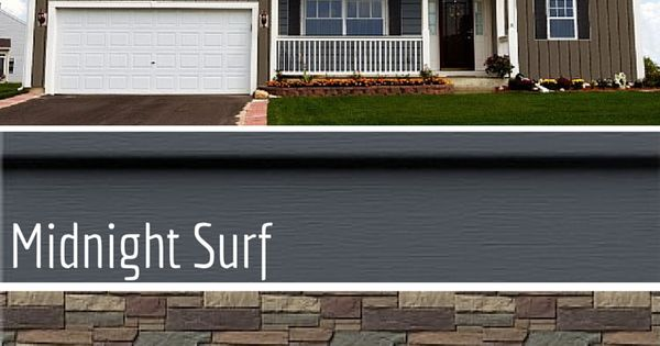 Haven 174 Insulated Siding In Midnight Surf With Stone Accent