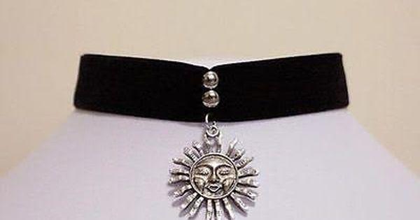 Mathilda Natalie Portman black choker necklace with sun pendant Leon film