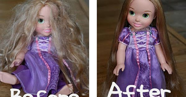 This is my hair on the left. I'm not sure the Doll