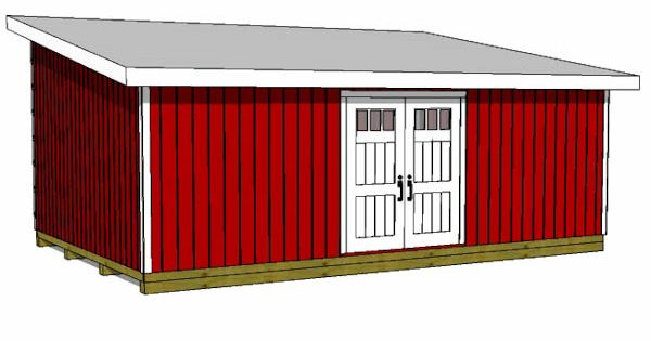 16x24 Lean To Shed To Build Onto A House And