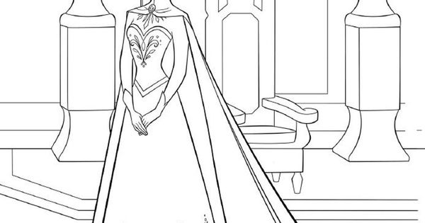 Elsa Frozen Coloring Page Printable Frozen Party For