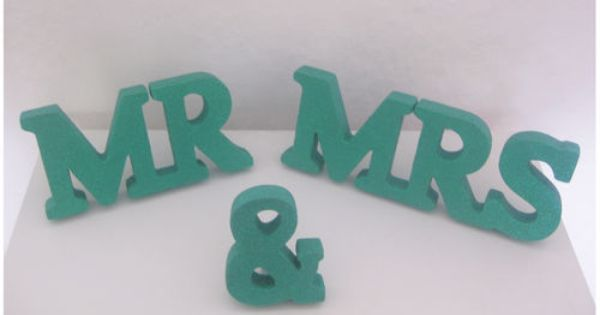 Details about personalised mr and mrs sign sparkly for Personalised mr and mrs letters