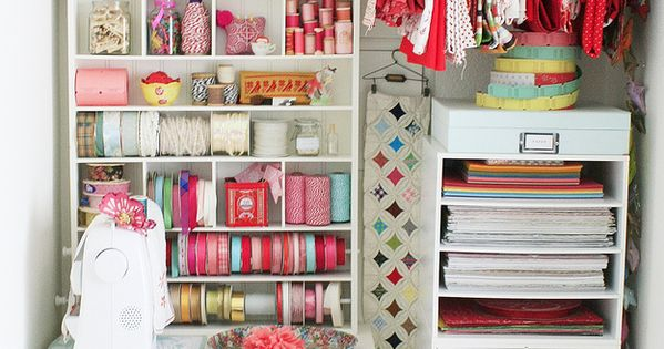 Craft storage practical for a closet until i get my dream craft