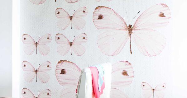 Oz 3158 behang van onszelf prachtig voor de meisjes kinderkamer kamer lotte pinterest - Pastel slaapkamer kind ...