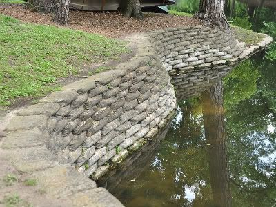 Concrete Bag Retaining Wall Concrete Retaining Walls Landscaping Retaining Walls Pond Landscaping
