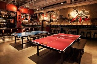 Just About The Nicest Place You Ll Ever Play Ping Pong Ping Pong Ping Pong Bar Table Tennis Room