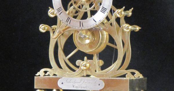 Example of one of condliff s third series great wheel skeleton clocks