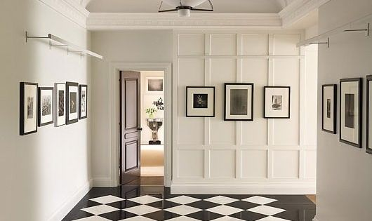 Can't beat black and white tiling it never becomes outdated. A Manhattan