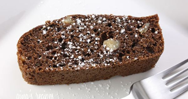 Chocolate Zucchini Bread. Made these into muffins instead (much less messy in
