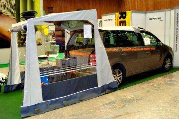 Rear Door Camper Awning Travel Van Camper Van Van